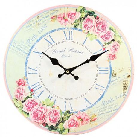 Zegar w stylu prowansalskim z różami