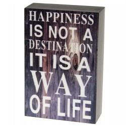 Dekoracja z Sentencją Happiness
