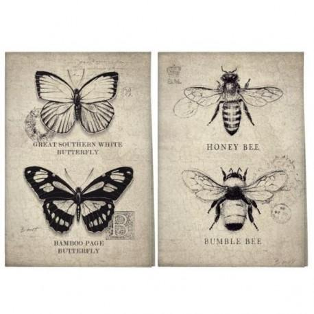 Brązowe ściereczki z owadami
