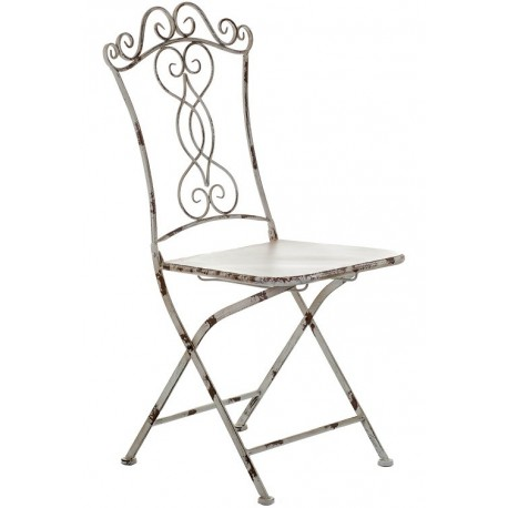 Metalowe krzesło ogrodowe. Specjalnie postarzane, piękne motywy. Do krzesła można też dokupić zestaw