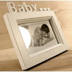 Biała Ramka Drewniana Baby