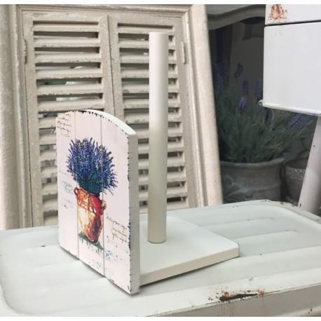 Jasny stojak na papier z motywem lawendy