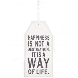 Tabliczka Drewniana Happiness