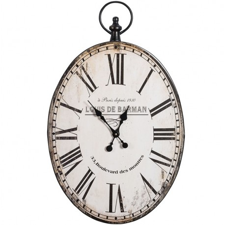 Owalny zegar Belldeco w paryskim stylu