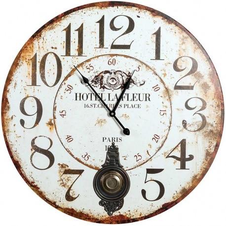 Zegar retro marki belldeco z wahadłem