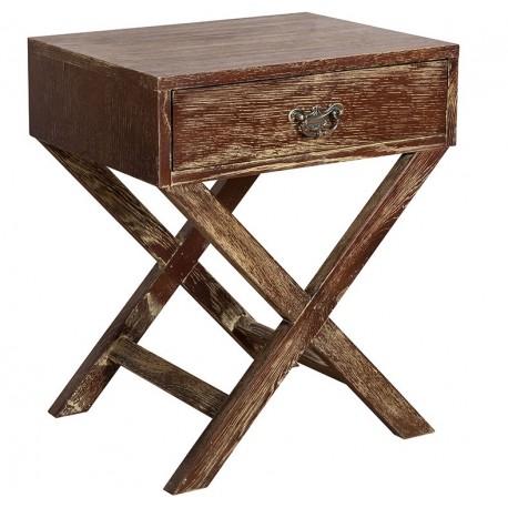 brązowy stolik belldeco z szufladką
