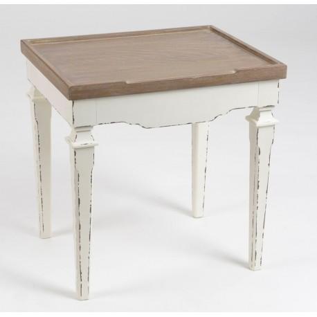 stolik kawowy bialy kwadratowy drewniany