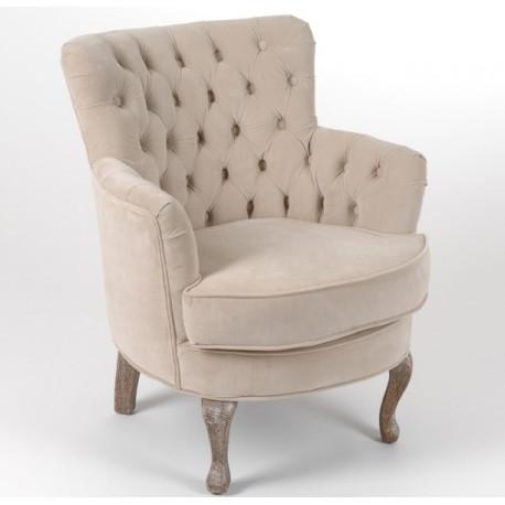 Fotel pikowany w stylu prowansalskim