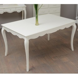 TABLE 140X90 KD CREME BEAUVOIR