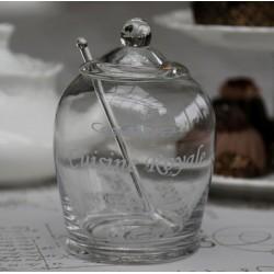 Szklany Pojemnik z Łyżeczką Chic Antique