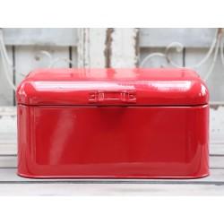 Metalowy Pojemnik Czerwony Chic Antique