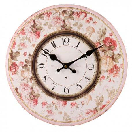 Zegar retro ozdobiony różami