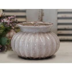 Osłonka Ceramiczna Chic Antique Pudrowa 1