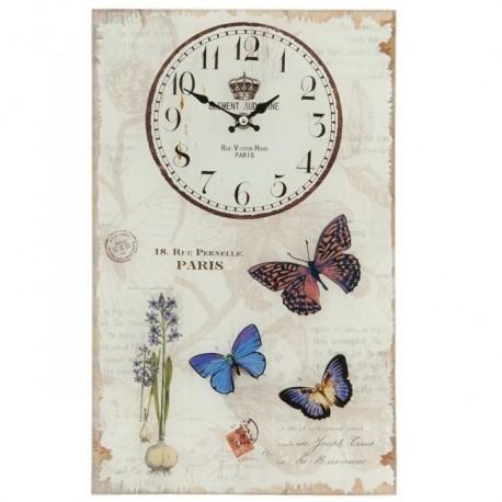 Piękny wiosenny zegar za szkłem w prowansalskim stylu.