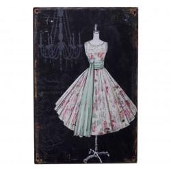 Obrazki Metalowe Chic Antique Suknia
