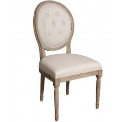 Krzesło Belldeco Dębowe Pikowane