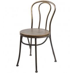 Metalowe Krzesło Belldeco Gold
