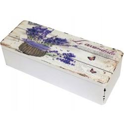 Pudełko Drewniane z Lawendą B