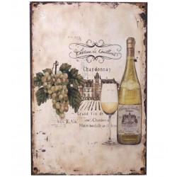 Obrazek Metalowy Wino