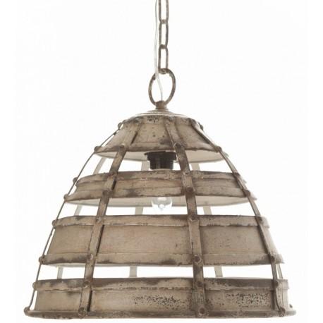 Metalowa lampa o postarzanym kolorze