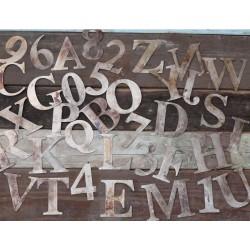 Cyfry i Litery Ozdobne Metalowe 36szt.