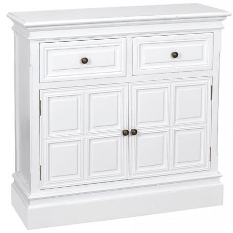 Biała komoda w stylu prowansalskim