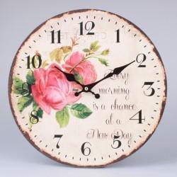 Zegar Retro Róże 6