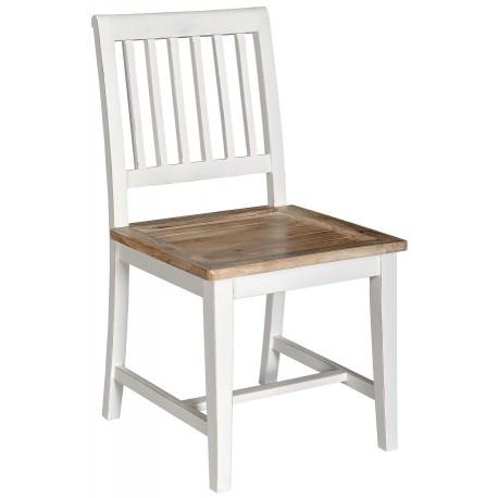 drewniane biało brązowe krzesło