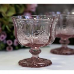 Pucharek Szklany Różowy