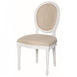 Krzesło Prowansalskie Tapicerowane Białe