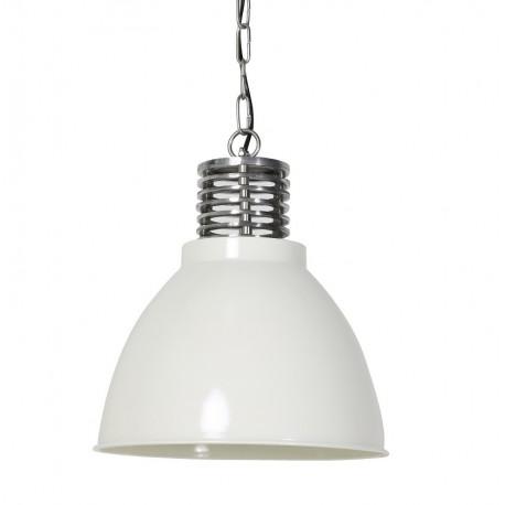 Biała metalowa lampa loftowa