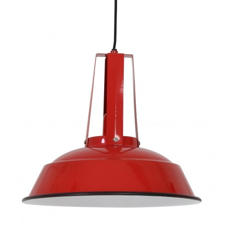 metalowa lampa czerwona