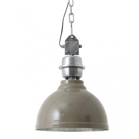 Brązowa lampa wykonana z metalu