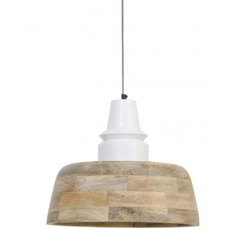 Lampa w stylu loft wykonana z drewna