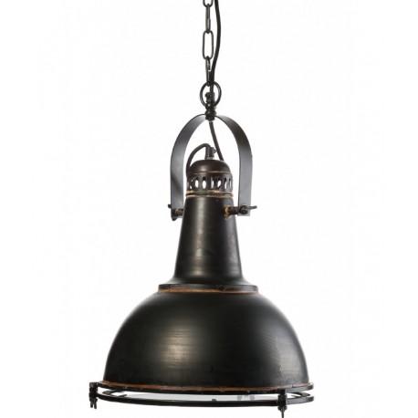 Czarna przecierana lampa loftowa