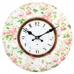 Zegar Retro Kwiaty
