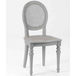 Szare krzesło prowansalskie