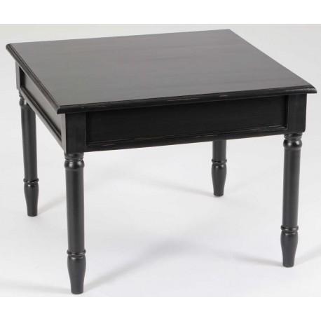 czarny, kwadratowy stolik kawowy