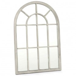 Lustro Okno Białe Metalowa Rama B