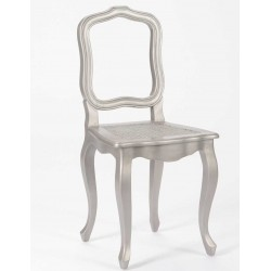 Krzesło Prowansalskie Srebrne Mahoń