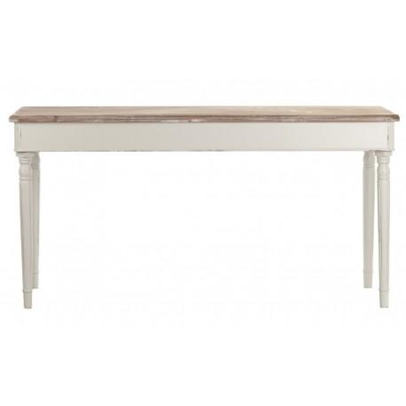 jasnoszary stół z bielonym blatem