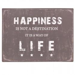 Metalowy Obrazek Happiness
