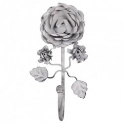 Metalowy Wieszak z Różą