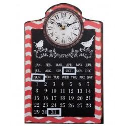 Zegar z Kalendarzem Retro