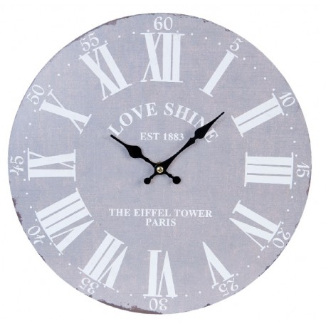 szary zegar z rzymskimi białymi cyframi