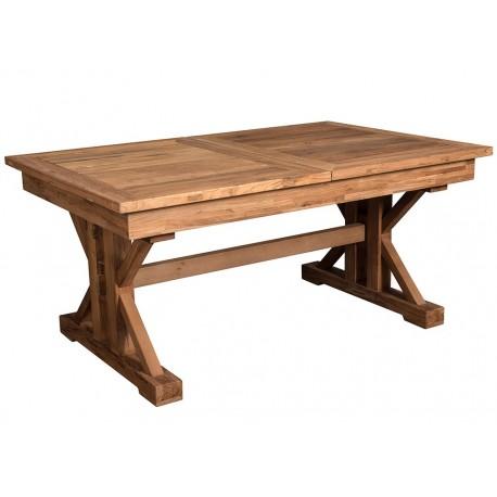 Drewniany stół o prostokatnym blacie