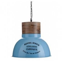 Lampa Metalowa Aluro Enzo Niebieska XL