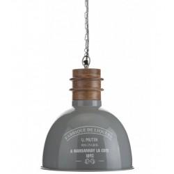 Lampa Metalowa Aluro Hiro Szara L