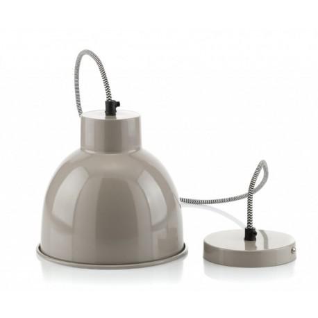 metalowa lampa o szarym kolorze