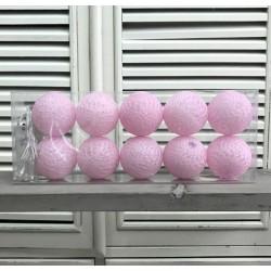 Kule Świecące Cotton Balls Różowe